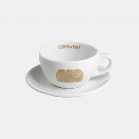 Tasse Et sous-tasse à cappuccino En Porcelaine Servir et déguster