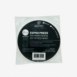 100 filtres papiers pour cafetière piston Espro (P3/P5) Les filtres à café