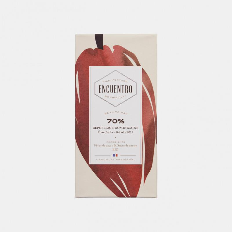 Tablette de chocolat - 70% République Dominicaine (S') Offrir