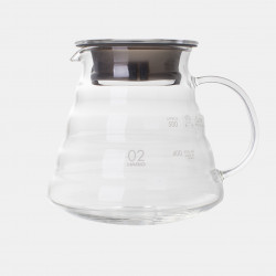 600ml glass coffee jug for V60 coffee makers - 2 to 5 cups - Terres de café