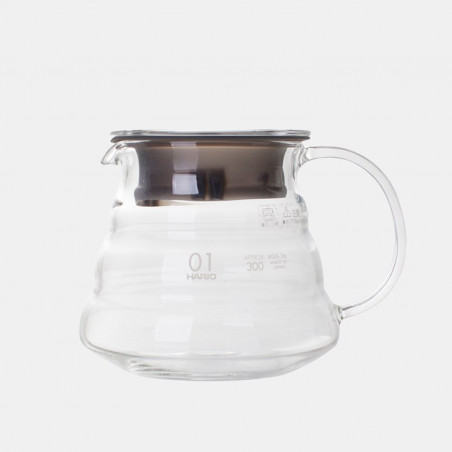 Hario 360ml glass coffee jug for V60 coffee makers - 1 to 3 cups