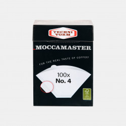 100 filtres n°4 Moccamaster Les filtres à café