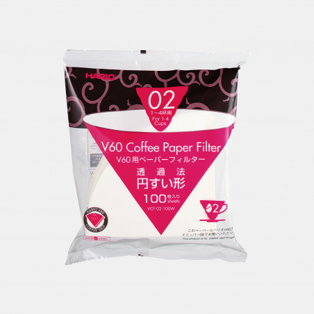 Batch of 100 filters 02 for V60 Dripper HARIO
