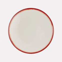 Lot de 2 sous-tasses en porcelaine peintes à la main