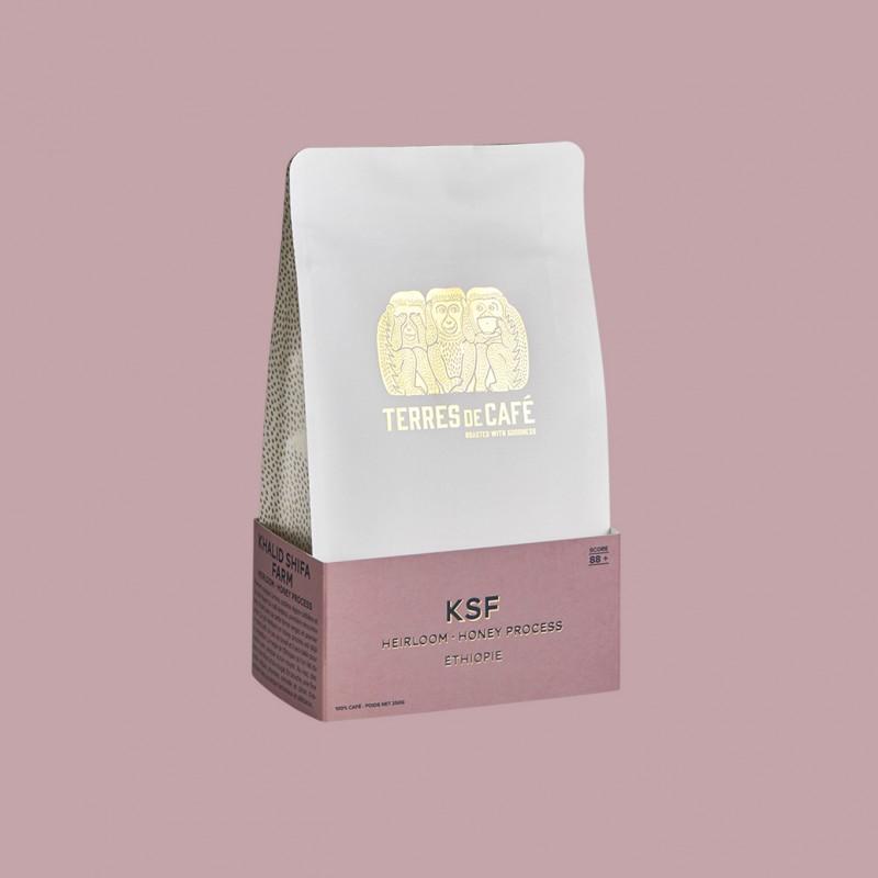 Specialty coffee by Terres de Café - KSF Heirloom Honey Process