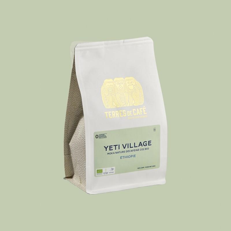Specialty coffee by Terres de Café - Organic Decaffeinated Yeti Village Moka