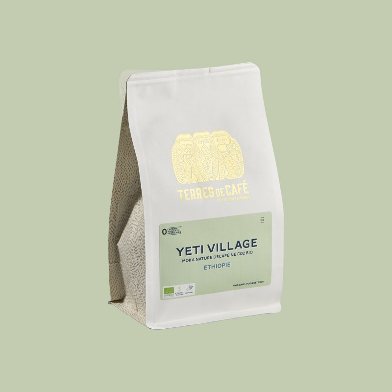 café de spécialité Terres de café - Yeti Village Moka Bio Décaféiné