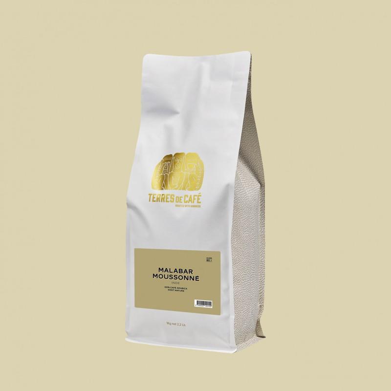 Specialty coffee by Terres de Café - Coffee Malabar Moussonné - 1kg