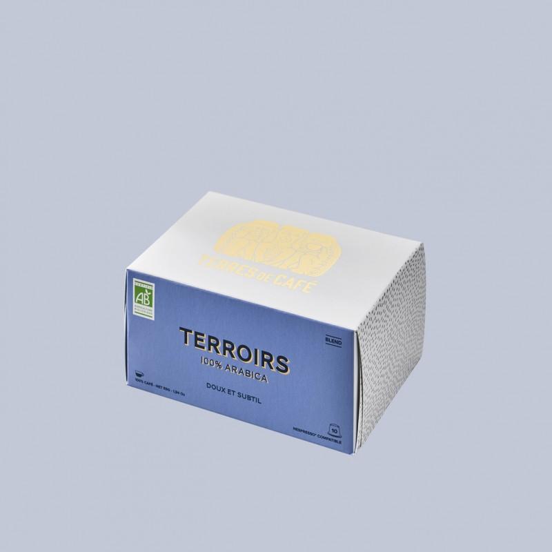 café de spécialité Terres de café - Capsules Terroirs Bio x 10