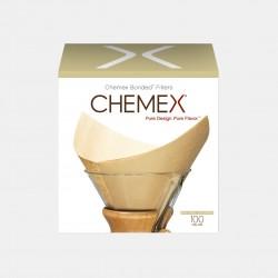 Lot de 100 Filtres naturels pour Chemex - 6-8 Tasses Accessoires Méthodes douces