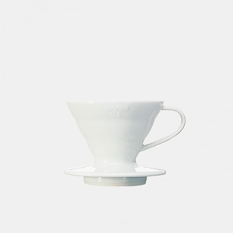 Dripper blanc V60 en céramique 01 - 1/2 tasses HARIO