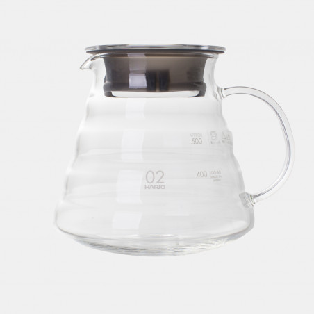 Carafe en Verre T2 2/5 Tasses- 600Ml, carafe hario. carafe méthodes douces slow coffee café doux